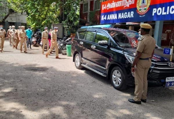 அண்ணா நகர் காவல் நிலையத்திற்கு கமிஷனர் சங்கர் ஜிவால் திடீர் 'விசிட்'