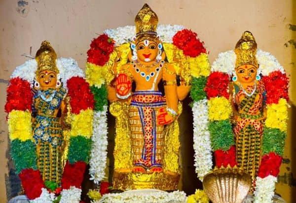 புத்தேரி வரதராஜ பெருமாள் சுவாமிசந்தன காப்பு அலங்காரத்தில் அருள்பாலிப்பு