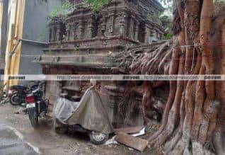 வேளச்சேரி வாசுதேவ பெருமாள் கோவில் ஆக்கிரமிப்பு:  ...