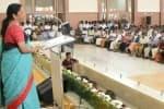 கறுப்புகொடி காட்டியவர்களுக்கு பதிலடி : நிர்வாகிகளுக்கு  நிர்மலா சீதாராமன் அழைப்பு