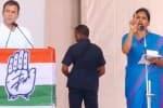ராகுல், பிரியங்கா பேச்சை மொழிபெயர்த்த பெண் ; காங்.,நிம்மதி