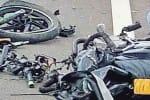 லாரி -  டூ வீலர் மோதல்: 3 பேர் பலி