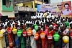 குடிநீர் தட்டுப்பாடு:தி.மு.க., ஆர்ப்பாட்டம்