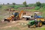 மாமண்டூர் குளம் சீரமைப்பு பணி, 'விறுவிறு'