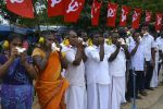 ராமேஸ்வரத்தில் ஆக்கிரமிப்பு கடைகளை  அகற்ற கோரி ஆர்ப்பாட்டம்