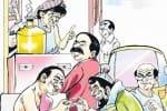 அரிசி வழங்கி ஓட்டு வேட்டையாடும் தி.மு.க., பிரமுகர்!