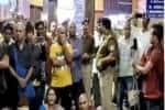 ரயில் நிலையத்தில் பயணியர் தர்ணா