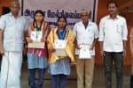 காமராஜர் விருது பெற்ற மாணவிகளுக்கு பாராட்டு