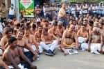 திருப்பூர் மார்க்கெட்டில் அரைநிர்வாண போராட்டம்