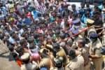ஆந்திர விஷவாயு சம்பவம்: நிறுவனம் முன்பு கிராம மக்கள்  போராட்டம்