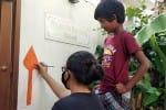 கந்தன் வேல் வரையும் போட்டி: களம் இறங்கிய மாணவர்கள்