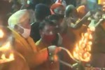 சரயு நதிக்கு ஆரத்தி எடுத்து வழிபட்ட மோகன் பகவத்
