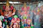 விற்பனை ஆகாத விநாயகர் சிலைகள்