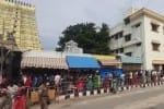 ராமேஸ்வரம் கோயிலில் குவிந்த பக்தர்கள்