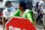 டோல் கேட்டில் கட்டணம் கேட்ட ஊழியரை அறைந்த ஜெகன் கட்சி பெண் பிரமுகர்