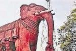 புராதன சின்னமானது அழகர்மலை யானை சிற்பம்