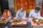 ரிக் ஷா தொழிலாளி வீட்டில் அமித் ஷாவின் மதிய உணவு