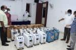 22 ஆக்சிஜன் செறிவூட்டிகள்  தன்னார்வ அமைப்பு உதவி