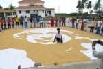 நெல் மணிகளால் அப்துல்கலாம் ஓவியம் :கல்லூரி மாணவர் அசத்தல்