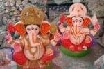 சதுர்த்திக்கு தயாராகும் விநாயகர் சிலைகள்