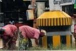 வி.ஐ.பி., வருகை; சரியானது சாலை