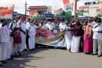 தனியார் மயம் கண்டித்து காங்., கட்சி ஆர்ப்பாட்டம்
