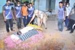 மோப்ப நாய் சாவு: போலீசார் அஞ்சலி