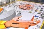 பிரதமர் மோடியின் சாதனை விளக்க ஓவியம்: 60 மணி நேரத்தில் வரைந்து அசத்திய மாணவர்கள்
