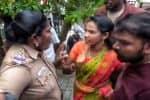 தி.மு.க.,எம்.பி.,மகனை எதிர்த்த பெண் வேட்பாளர் மீது தாக்குதல்