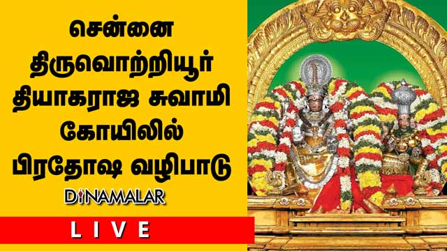 சென்னை திருவொற்றியூர்  தியாகராஜசுவாமி கோவிலில்  பிரதோஷ வழிபாடு!