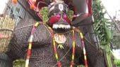 பிரமாண்ட கரும்பு ஆஞ்சநேயர்