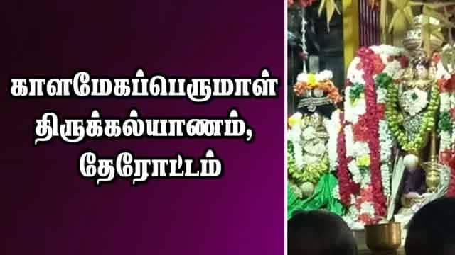 காளமேகப்பெருமாள் திருக்கல்யாணம், தேரோட்டம்
