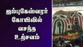 ஜம்புகேஸ்வரர் கோயிலில் வசந்த உற்சவம்