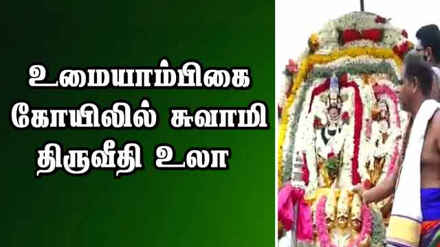 உமையாம்பிகை கோயிலில் சுவாமி திருவீதி உலா