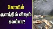 கோயில் குளத்தில் விஷம் கலப்பா?