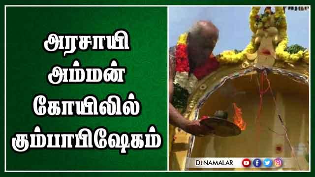 அரசாயி அம்மன் கோயிலில் கும்பாபிஷேகம்