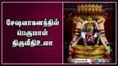 சேஷவாகனத்தில் பெருமாள் திருவீதிஉலா