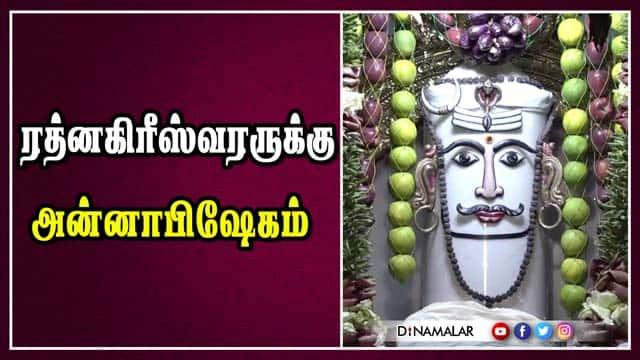 ரத்னகிரீஸ்வரருக்கு அன்னாபிஷேகம்