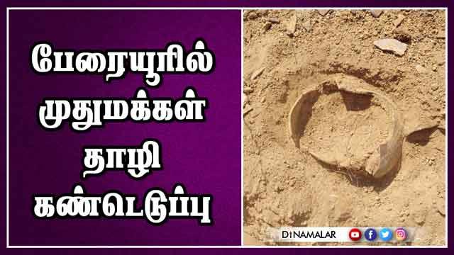 பேரையூரில் பெருங்கற்காலம் கண்டுபிடிப்பு