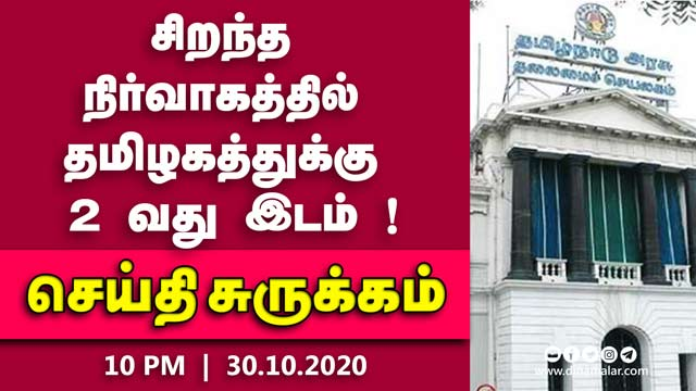 செய்தி சுருக்கம் | 10 PM | 30-10-2020 | Short News Round Up | Dinamalar