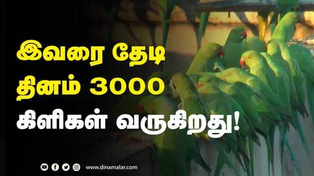 கிளிகளை குழந்தைகள் போல் வளர்க்கும் சுதர்சன் | Parrots | Sudharsan | Chennai | Dinamalar |
