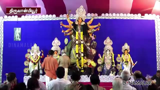 சென்னையில் பிரமாண்ட துர்கா சிலை