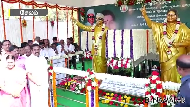 எம்.ஜி.ஆர், ஜெ மணிமண்டபம் திறப்பு