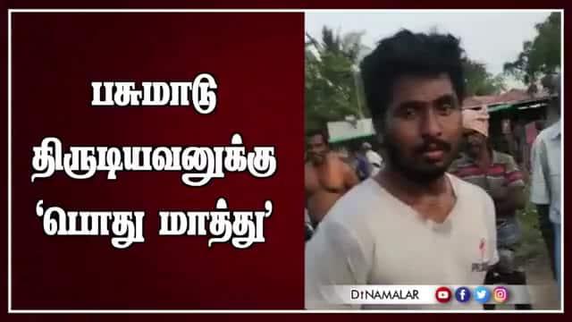 Tamil Celebrity Videos பசுமாடு திருடியவனுக்கு 'பொது மாத்து'