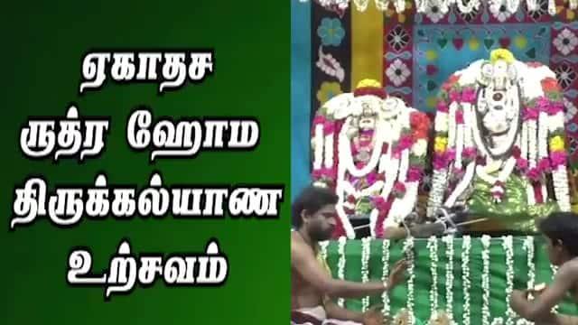 ஏகாதச ருத்ர ஹோம  திருக்கல்யாண உற்சவம்