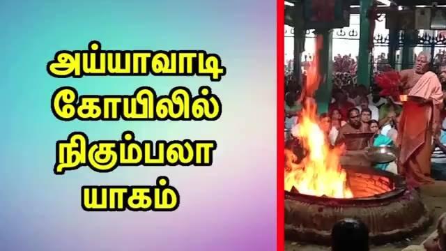அய்யாவாடி கோயிலில் நிகும்பலா யாகம்
