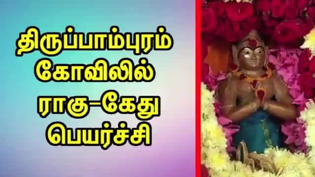 திருப்பாம்புரம்  கோவிலில்  ராகு-கேது பெயர்ச்சி