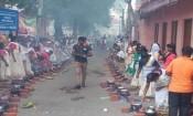 ஆற்றுக்கால் பகவதி அம்மன் பொங்கல் விழா: குவிந்த பெண்கள்